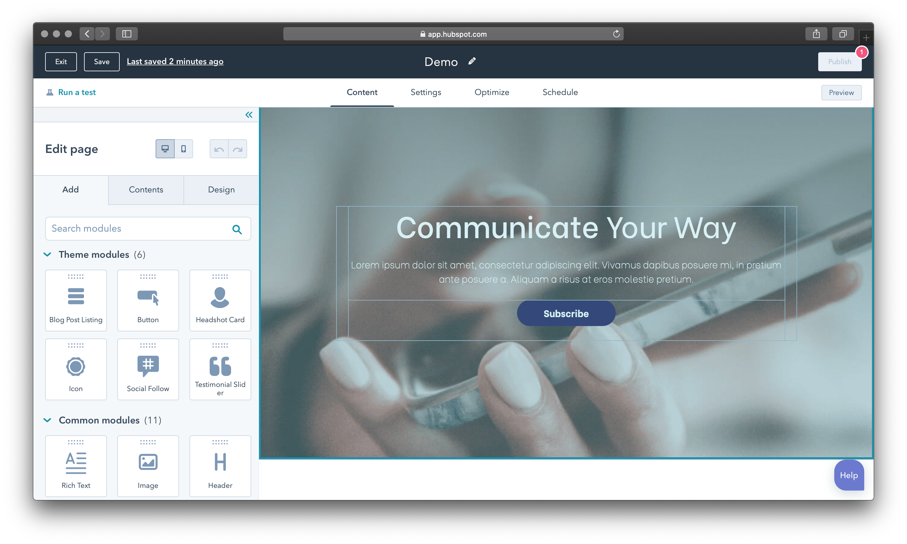 Powerful, optimised websites that convert with HubSpot